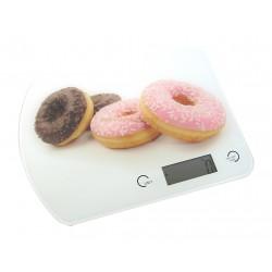 Balance de cuisine électronique 5kg précision 1g plateau verre décor donuts