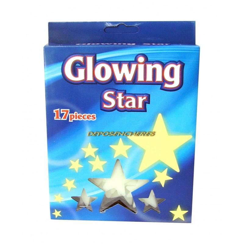 Lot 17 étoiles phosphorescentes cosmos
