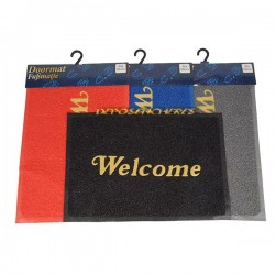 Tapis d'entrée paillasson Welcome 60x40cm