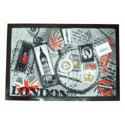 Tapis d'entrée accueil London 40x60cm