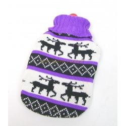 Bouillotte caoutchouc 1L avec housse tricot