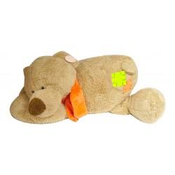 Grand ours en peluche couché 70cm