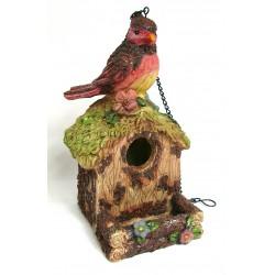 Nichoir à oiseaux en résine