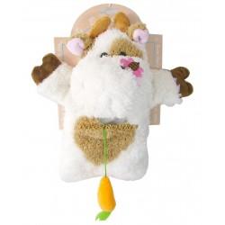 Marionnette vache en peluche toute douce 27cm