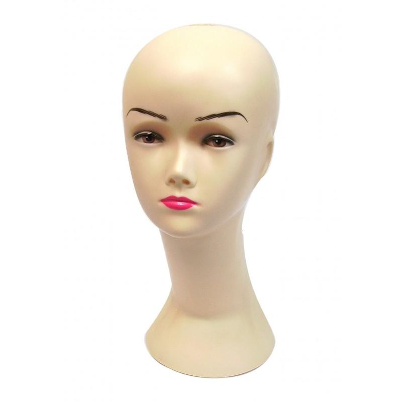 Tête de mannequin femme pour chapeau, bonnet, perruque