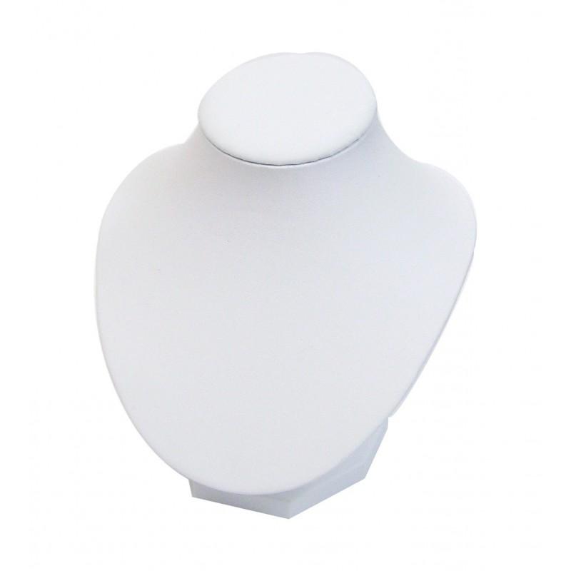 Buste présentoir blanc pour bijoux collier petit modèle