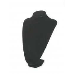 Buste présentoir noir haut pour bijoux collier grand modèle