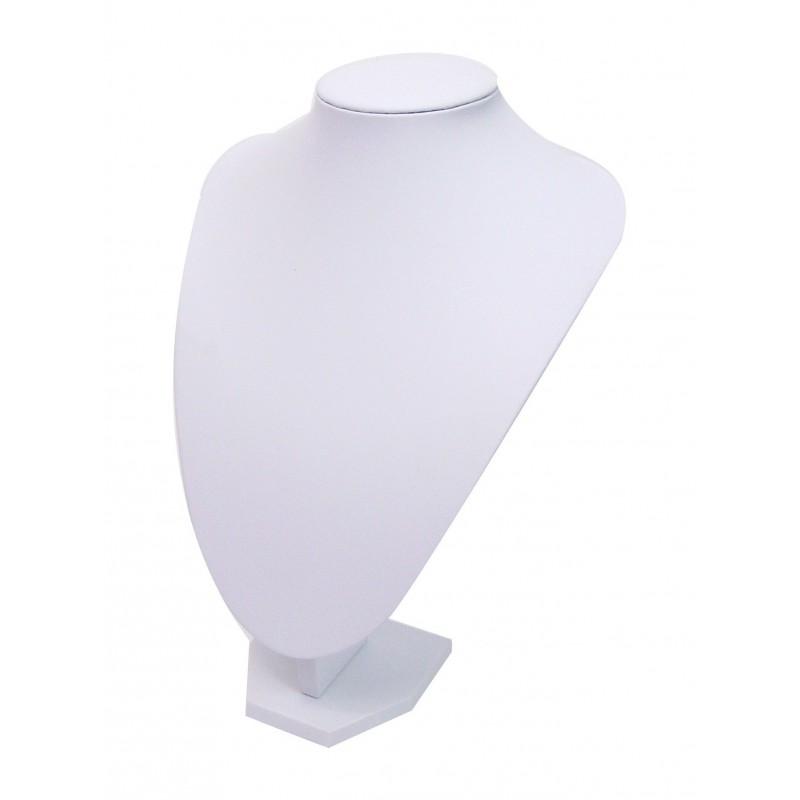 buste pr sentoir blanc pour bijoux collier grand mod le shopping affaires. Black Bedroom Furniture Sets. Home Design Ideas