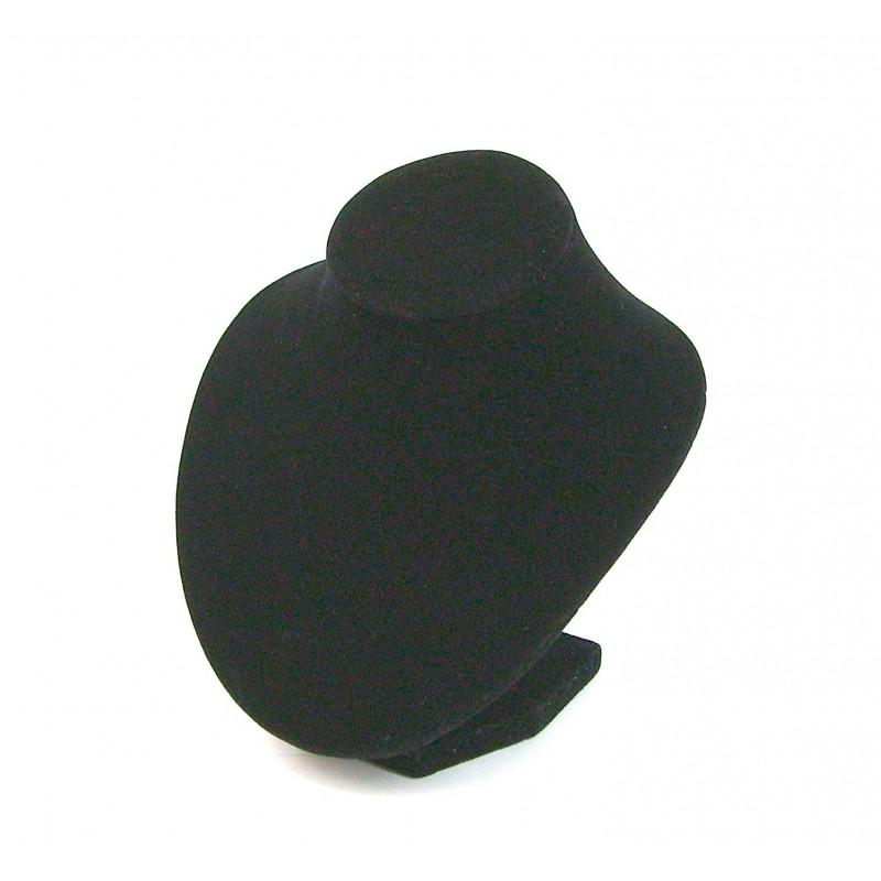 Buste présentoir noir pour bijoux collier petit modèle
