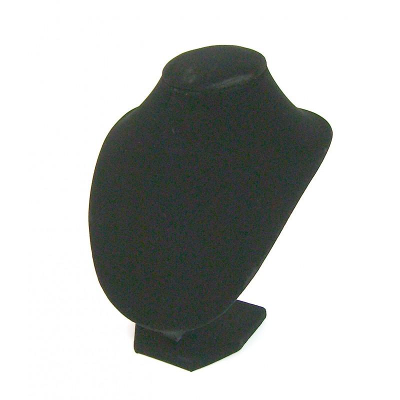 Buste présentoir noir pour bijoux collier moyen modèle