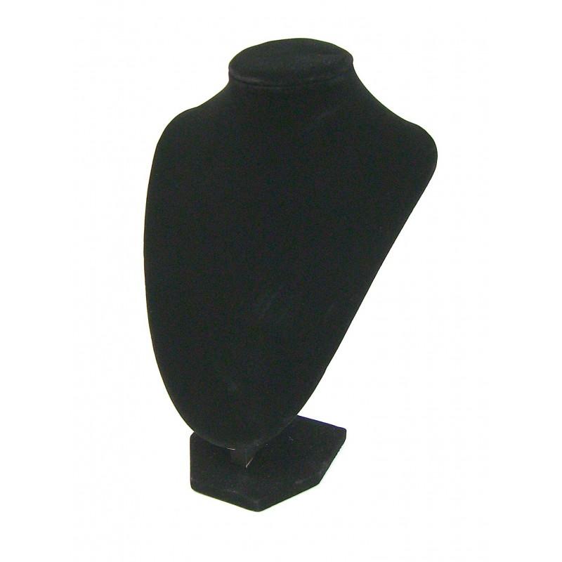 Buste présentoir noir pour bijoux collier grand modèle