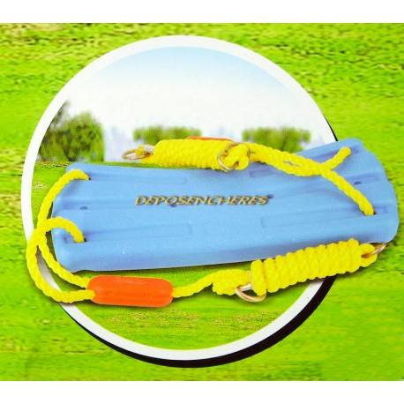 Siège de balançoire plastique avec cordages