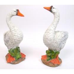 Oie en résine lot de 2