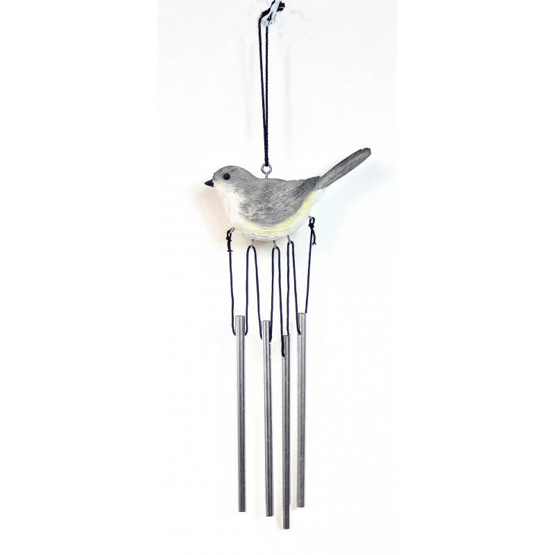 Carillon oiseau intérieur extérieur gris 32cm