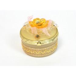 Boite a bijoux ronde beige