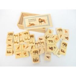 Jeu de dominos en bois images animaux
