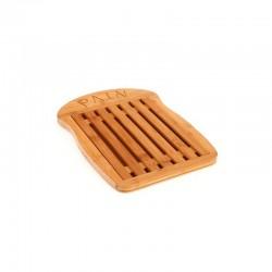 Planche à pain en bambou forme tranche 34x26cm