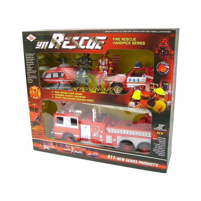 Coffret unité de secours et pompiers 911