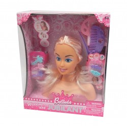 Tête à coiffer Belinda avec accessoires