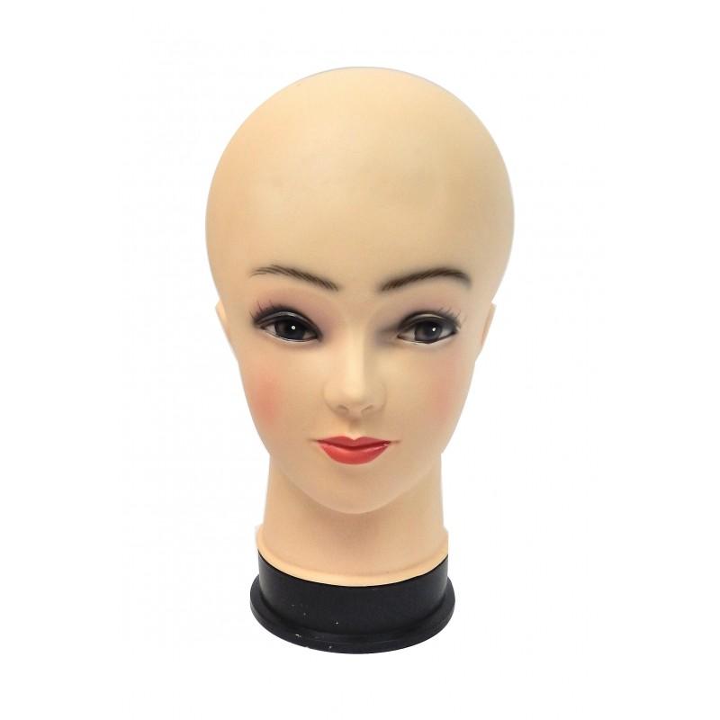 Tête de mannequin femme de base pour chapeau, bonnet, perruque