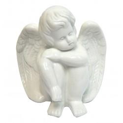 Angelot assis en céramique 13cm