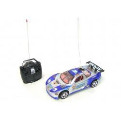Voiture de course rallye radiocommandée bleu/gris 23cm