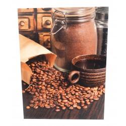 Photo sur toile 30x40cm café