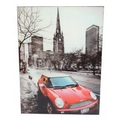 Photo sur cadre bois laqué noir Austin rouge 30x40cm