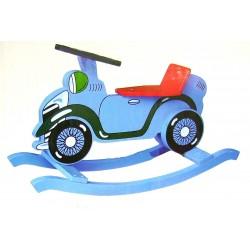 Jouet auto à bascule en bois peint
