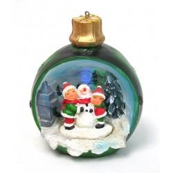 Boule de Noël lumineuse bonhomme de neige