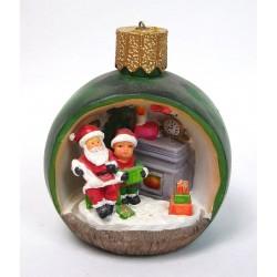 Boule de Noël lumineuse Père Noël