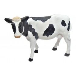 Vache noir et blanc en résine hauteur 34cm