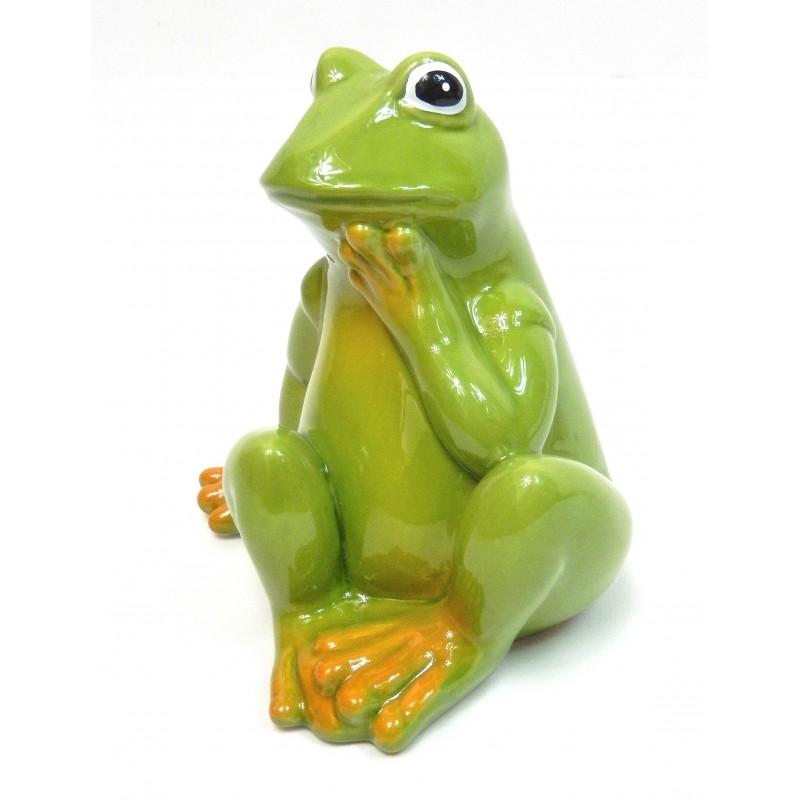 Grenouille assise en céramique A