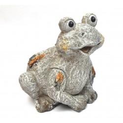 Grenouille en résine aspect pierre