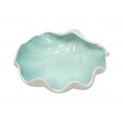 Coquillage vide poche en céramique bleu