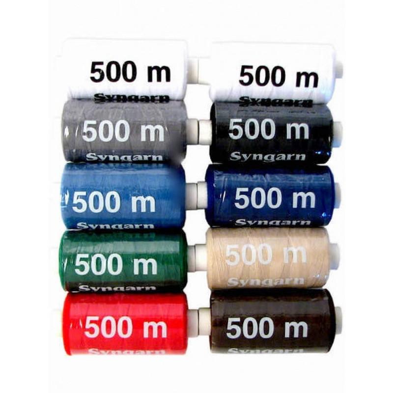 Lot 10 bobines 500m fil à coudre 100% polyester
