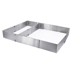 Cadre à pâtisserie rectangle extensible inox