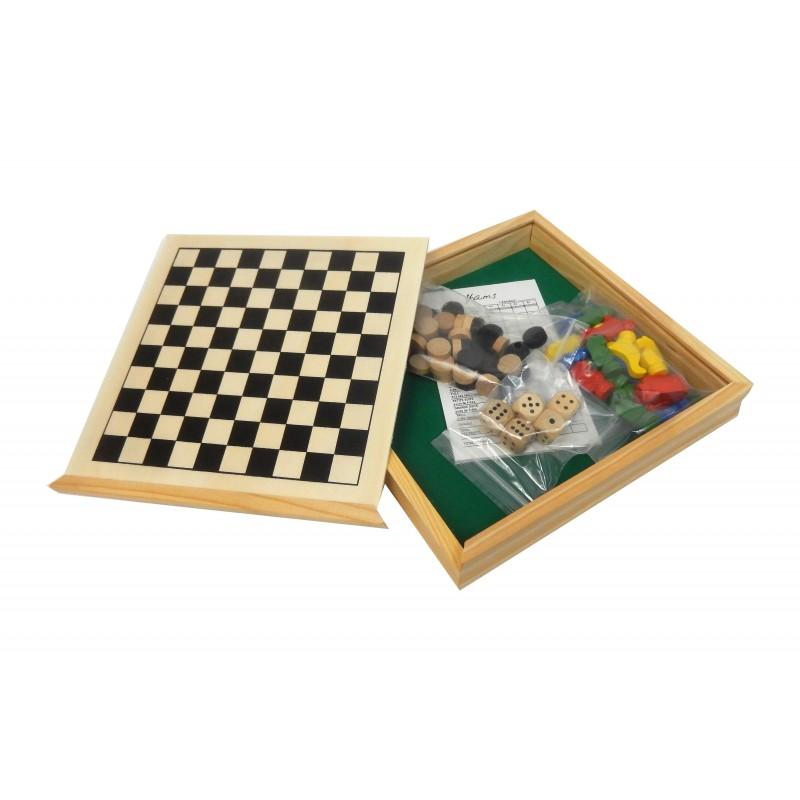Coffret 4 jeux de société en bois