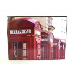 Photo sur cadre cabines téléphoniques de Londres