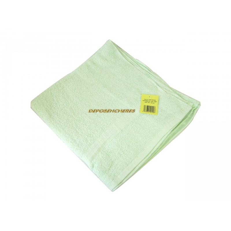 Drap de bain éponge coton vert