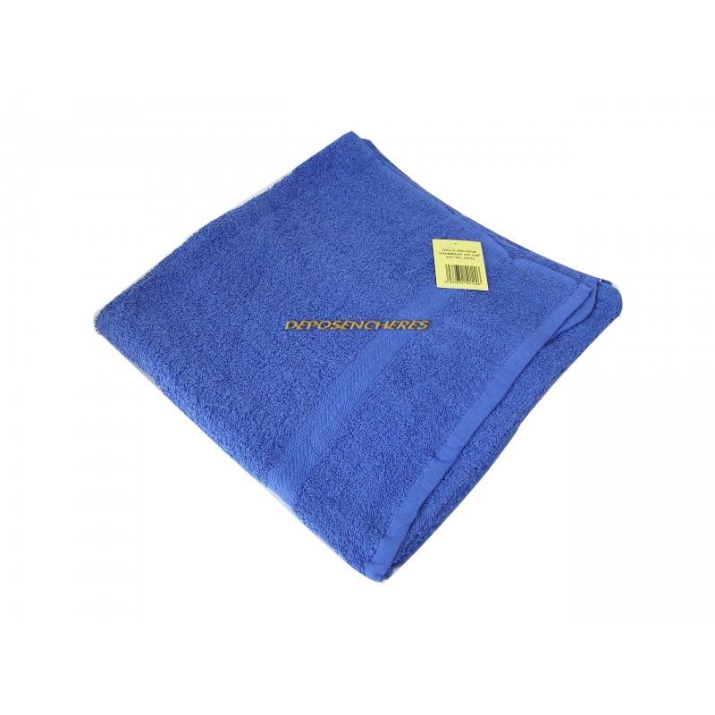 Drap de bain éponge coton bleu marine 350g/m² 80x150cm