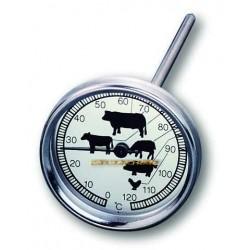 Thermomètre de four en inox pour viandes volailles