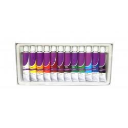 Lot 12 tubes 12ml peinture acrylique couleurs assorties
