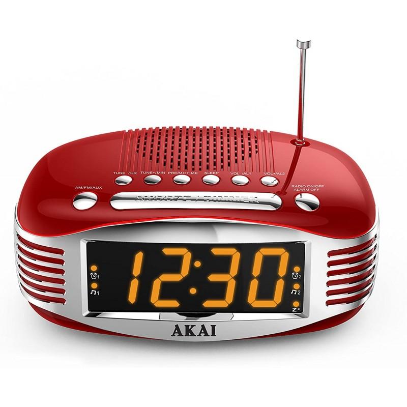 RADIO REVEIL AM/FM AKAI AR400RD