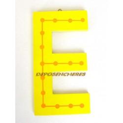 """Lettre alphabet """"E"""" en bois peint 15cm"""