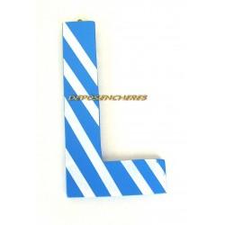 """Lettre alphabet """"L"""" en bois peint 15cm"""