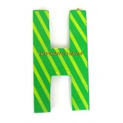 """Lettre alphabet """"H"""" en bois peint 15cm"""