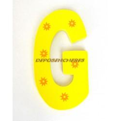"""Lettre alphabet """"G"""" en bois peint 15cm"""