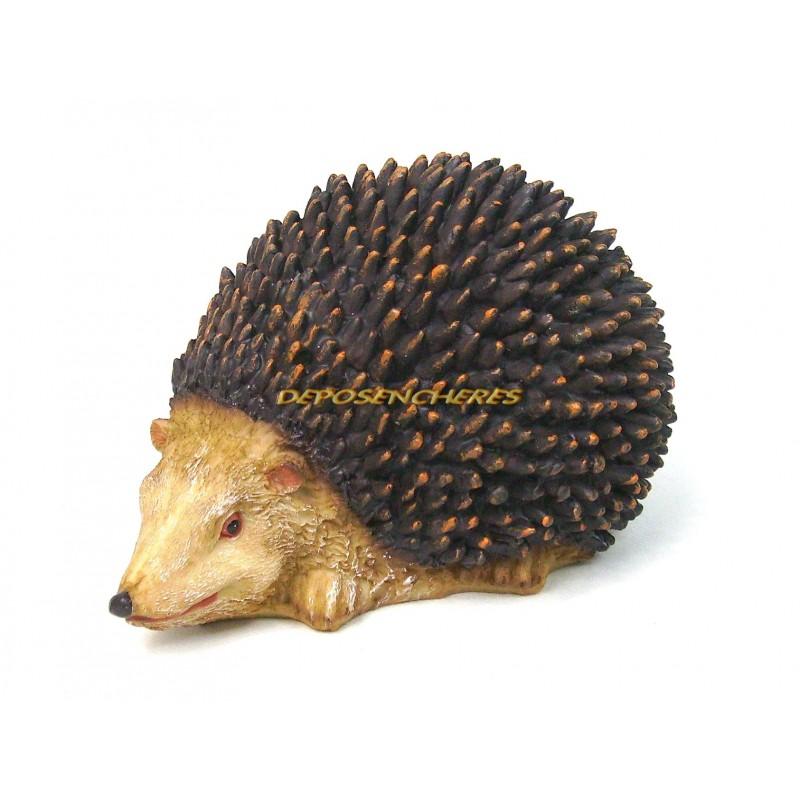 Hérisson décoratif en polyrésine tête droite 18cm A