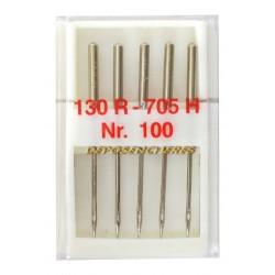Lot 5 aiguilles standard n°100 pour machine à coudre